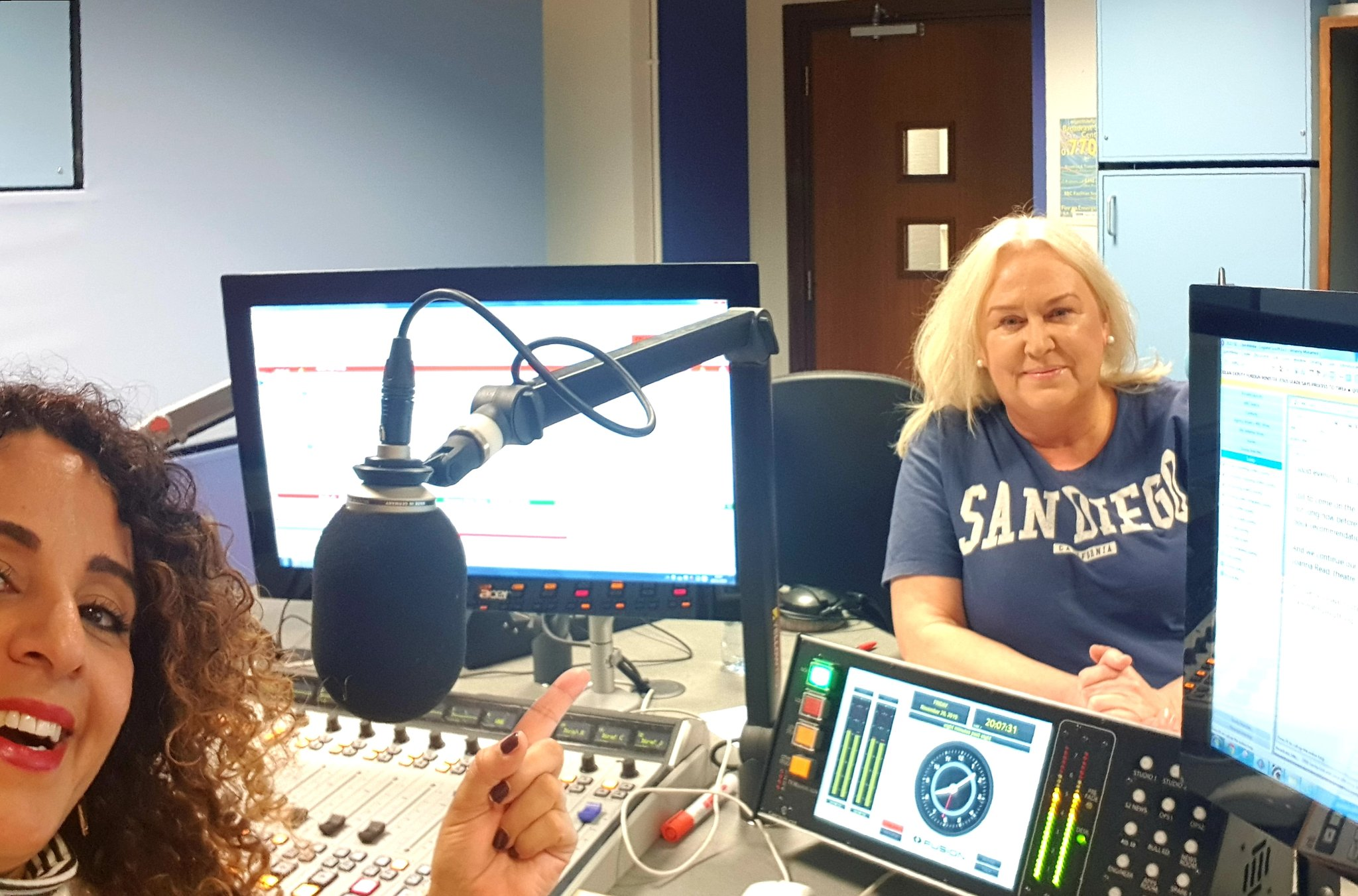 Angela Dyson and Amanny Mo on BBC Surrey Sussex Radio